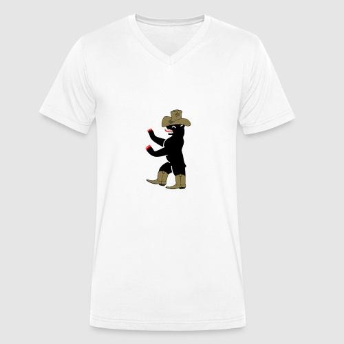 Berlin Bär cowboy - Männer Bio-T-Shirt mit V-Ausschnitt von Stanley & Stella