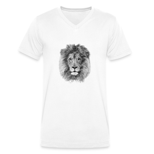 Lionking - Men's Organic V-Neck T-Shirt by Stanley & Stella