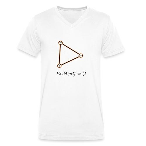 Me, Myself and I naranja - Camiseta ecológica hombre con cuello de pico de Stanley & Stella