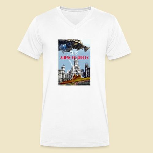 PLAZA DE CIBELES - Camiseta ecológica hombre con cuello de pico de Stanley & Stella