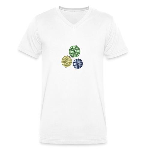 Kreise, Symbole, Figuren - Männer Bio-T-Shirt mit V-Ausschnitt von Stanley & Stella