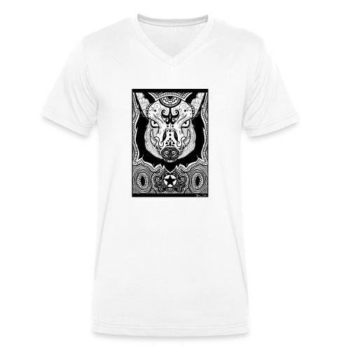 Psychedelic Boar - Männer Bio-T-Shirt mit V-Ausschnitt von Stanley & Stella