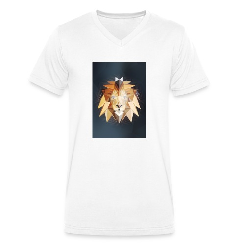 Polygon Lion - Männer Bio-T-Shirt mit V-Ausschnitt von Stanley & Stella