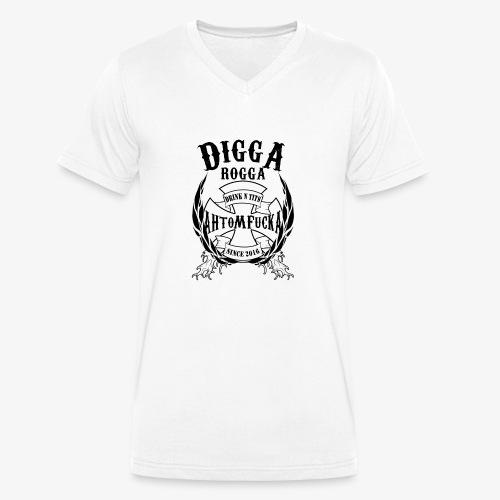 DiggA RoggA Iron Wreath Schwarz - Männer Bio-T-Shirt mit V-Ausschnitt von Stanley & Stella