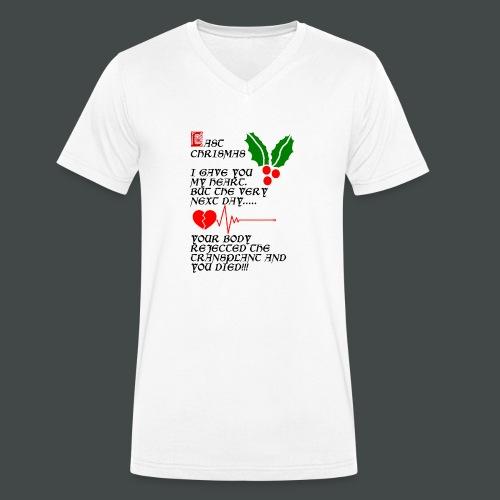 Last Chrismas - Men's Organic V-Neck T-Shirt by Stanley & Stella