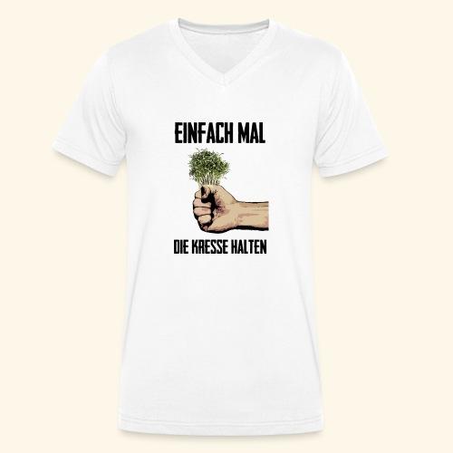 Einfach mal die kresse halten - Men's Organic V-Neck T-Shirt by Stanley & Stella