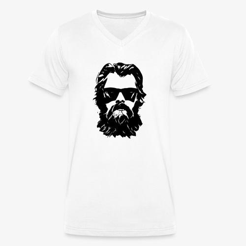 beardface - Männer Bio-T-Shirt mit V-Ausschnitt von Stanley & Stella