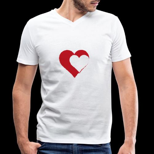 2LOVE - Men's Organic V-Neck T-Shirt by Stanley & Stella