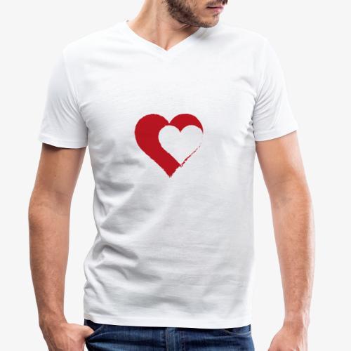 2LOVE - T-shirt ecologica da uomo con scollo a V di Stanley & Stella