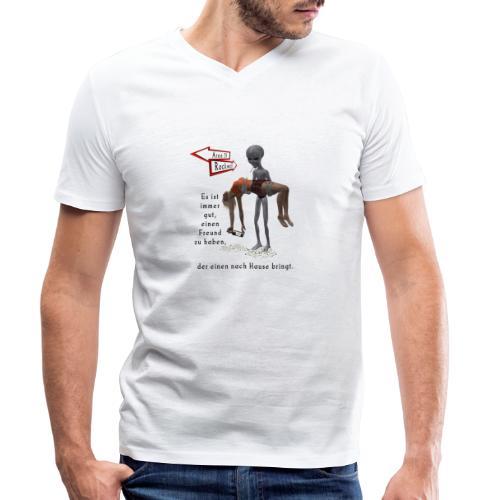 Grey Alien - Männer Bio-T-Shirt mit V-Ausschnitt von Stanley & Stella