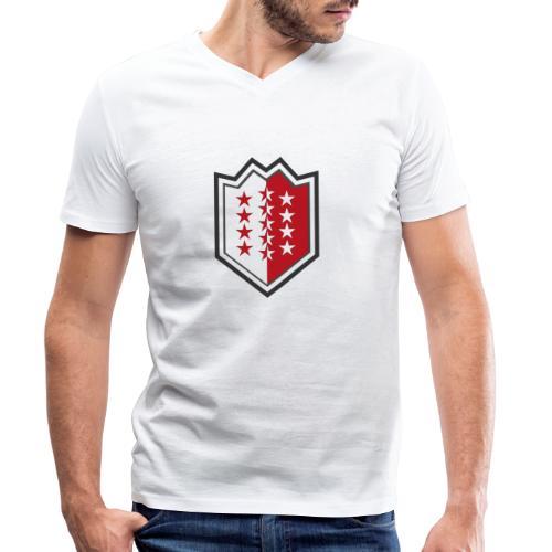 Bouclier moderne du Valais - Männer Bio-T-Shirt mit V-Ausschnitt von Stanley & Stella