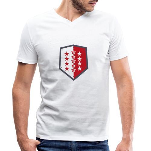 Wallis 1815 Valais - Männer Bio-T-Shirt mit V-Ausschnitt von Stanley & Stella