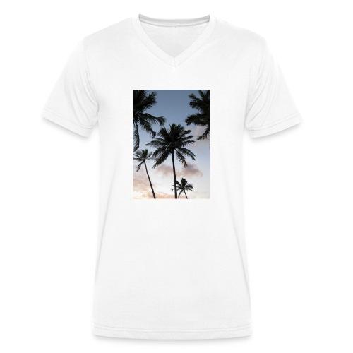 PALMTREES DOMINICAN REP. - Mannen bio T-shirt met V-hals van Stanley & Stella