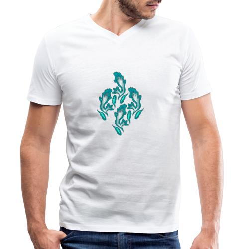fiamme geometriche astratte - T-shirt ecologica da uomo con scollo a V di Stanley & Stella