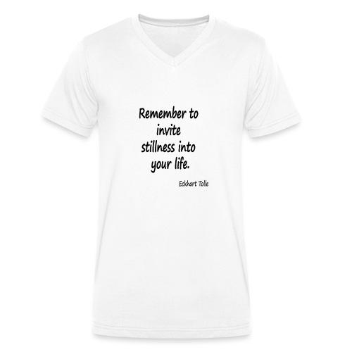 Invite Stillness - Men's Organic V-Neck T-Shirt by Stanley & Stella