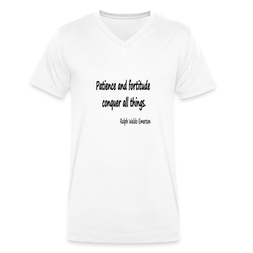 Peace and Patience - Men's Organic V-Neck T-Shirt by Stanley & Stella