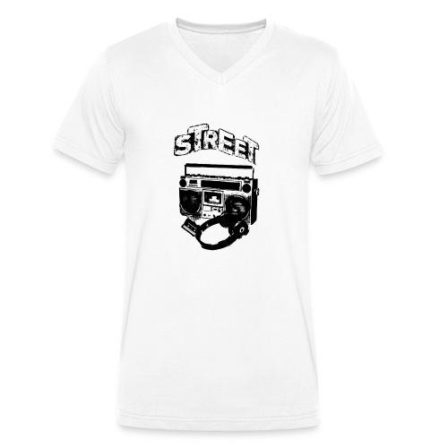 street 1 - Økologisk Stanley & Stella T-shirt med V-udskæring til herrer