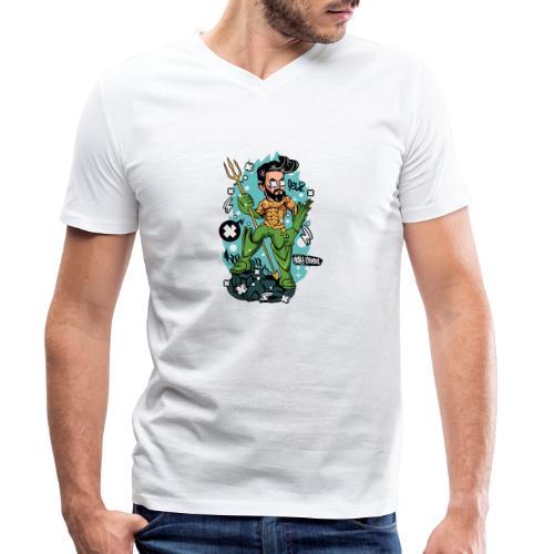 Felicino il Capitano - T-shirt ecologica da uomo con scollo a V di Stanley & Stella