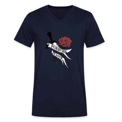 Forever in Love - Männer Bio-T-Shirt mit V-Ausschnitt von Stanley & Stella