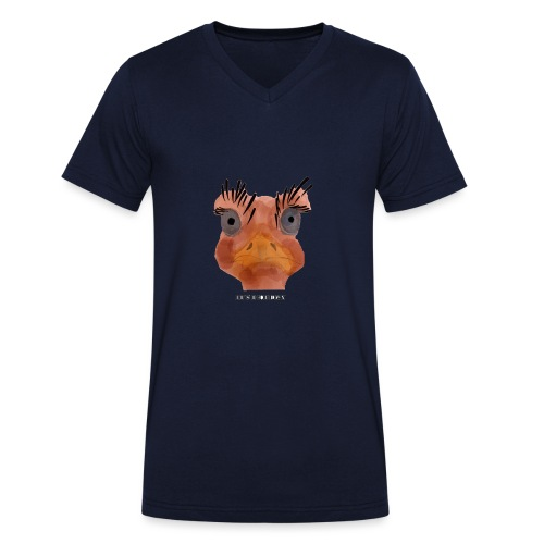 Srauss, again Monday, English writing - Men's Organic V-Neck T-Shirt by Stanley & Stella