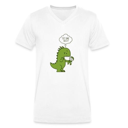 Bio-Dinosaurier - Männer Bio-T-Shirt mit V-Ausschnitt von Stanley & Stella