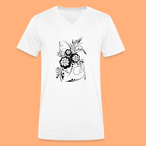 exposion florale - T-shirt bio col V Stanley & Stella Homme