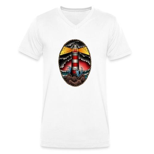 Leuchtturm Tausend Nadeln - Männer Bio-T-Shirt mit V-Ausschnitt von Stanley & Stella
