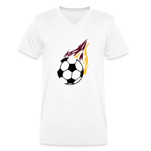 Football - Men's Organic V-Neck T-Shirt by Stanley & Stella