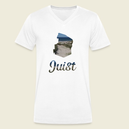 Traumhaftes Juist Urlaub Nordsee Meer - Männer Bio-T-Shirt mit V-Ausschnitt von Stanley & Stella