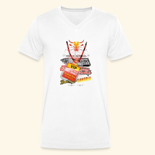 lustiges Sauftour-Shirt Booze Cruize - Männer Bio-T-Shirt mit V-Ausschnitt von Stanley & Stella
