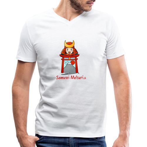 Samurai Matsuri Torii - Männer Bio-T-Shirt mit V-Ausschnitt von Stanley & Stella