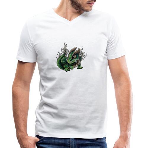 Chinesisches Drachenbaby - Männer Bio-T-Shirt mit V-Ausschnitt von Stanley & Stella