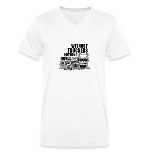 0911 without truckers nothing moves - Mannen bio T-shirt met V-hals van Stanley & Stella