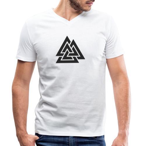 Valknut. Símbolo vikingo - Camiseta ecológica hombre con cuello de pico de Stanley & Stella