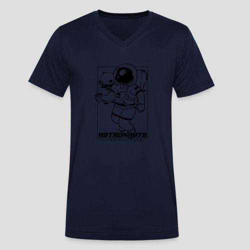 Astronauts loves Beerpong - Männer Bio-T-Shirt mit V-Ausschnitt von Stanley & Stella