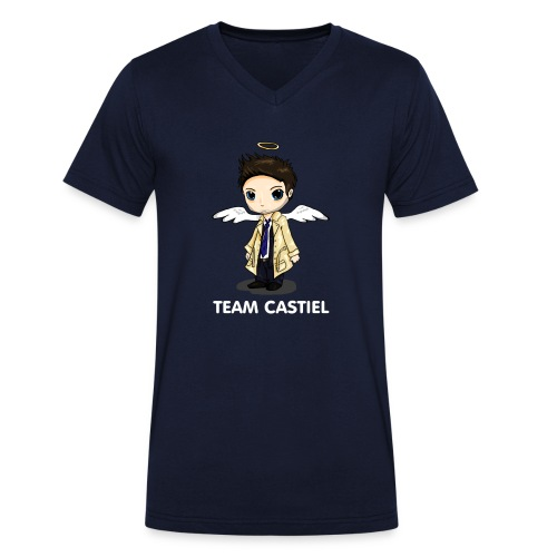 Team Castiel (dark) - Men's Organic V-Neck T-Shirt by Stanley & Stella