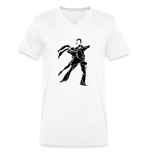 dancesilhouette - Men's Organic V-Neck T-Shirt by Stanley & Stella