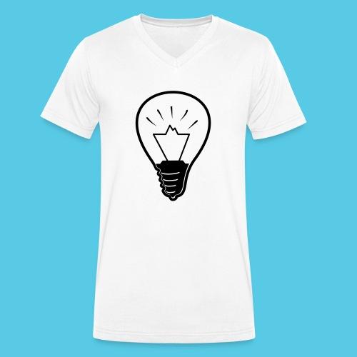 glühende Berge - Männer Bio-T-Shirt mit V-Ausschnitt von Stanley & Stella