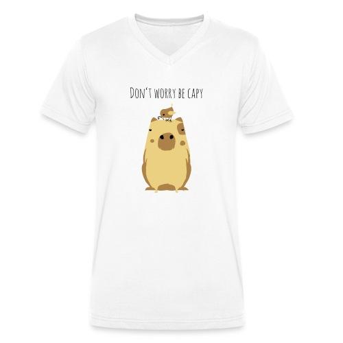 Wasserschwein Spruch - Männer Bio-T-Shirt mit V-Ausschnitt von Stanley & Stella