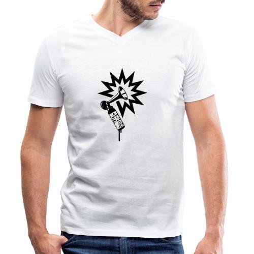 PTB Horn - Men's Organic V-Neck T-Shirt by Stanley & Stella