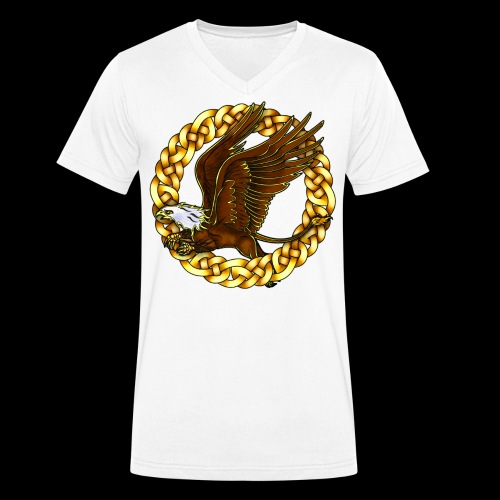 Bald Gryphon - Men's Organic V-Neck T-Shirt by Stanley & Stella