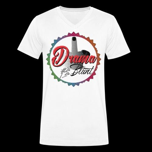 F**k Drama - Men's Organic V-Neck T-Shirt by Stanley & Stella
