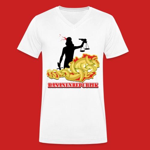Bananen Republik Österreich - Männer Bio-T-Shirt mit V-Ausschnitt von Stanley & Stella