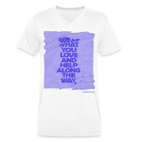 WEAR WHAT YOU LOVE - D1 - Männer Bio-T-Shirt mit V-Ausschnitt von Stanley & Stella
