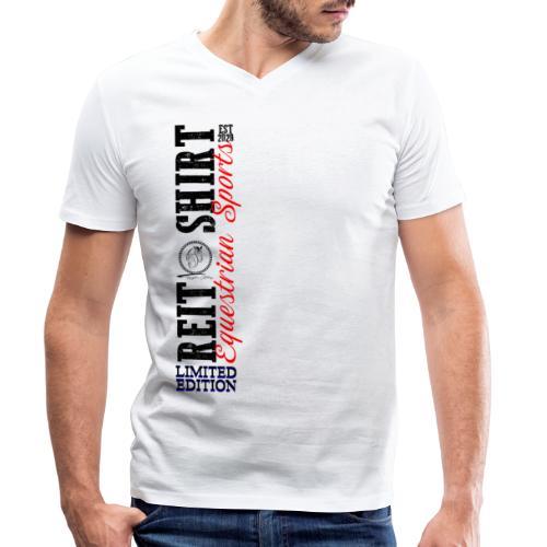 ReitShirt Limited Edition Pferde Reiten - Männer Bio-T-Shirt mit V-Ausschnitt von Stanley & Stella