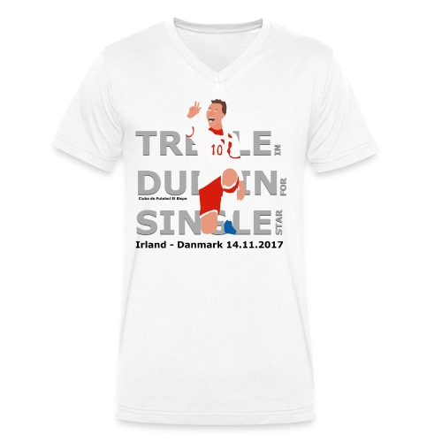 Treble in Dublin for Single Star - Økologisk Stanley & Stella T-shirt med V-udskæring til herrer