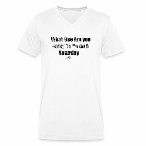 Rex.13 Football Weekender! - Men's Organic V-Neck T-Shirt by Stanley & Stella