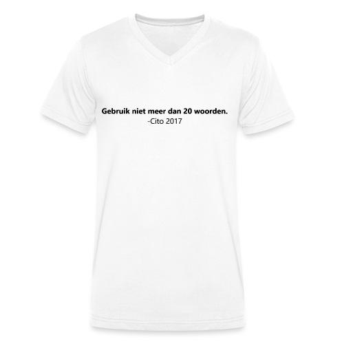 Gebruik niet meer dan 20 woorden - Mannen bio T-shirt met V-hals van Stanley & Stella