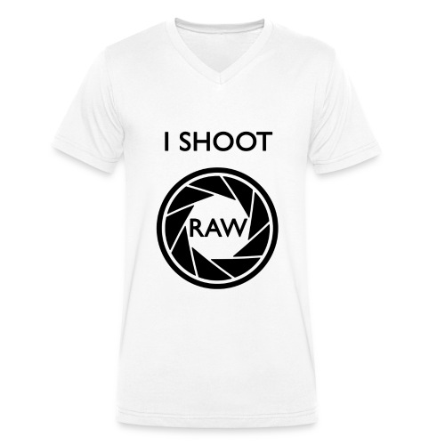 I SHOOT RAW Clothing - Männer Bio-T-Shirt mit V-Ausschnitt von Stanley & Stella