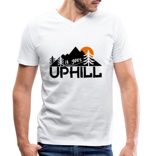 it goes uphill Mountain Outdoor Trekking Wandern - Männer Bio-T-Shirt mit V-Ausschnitt von Stanley & Stella